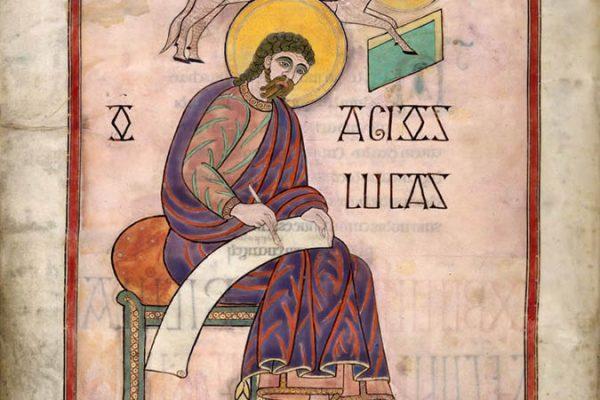 Lindisfarne Folio 137v - Saint Luc