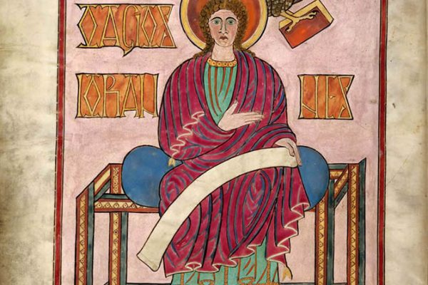 Lindisfarne Folio 209v - Saint Jean