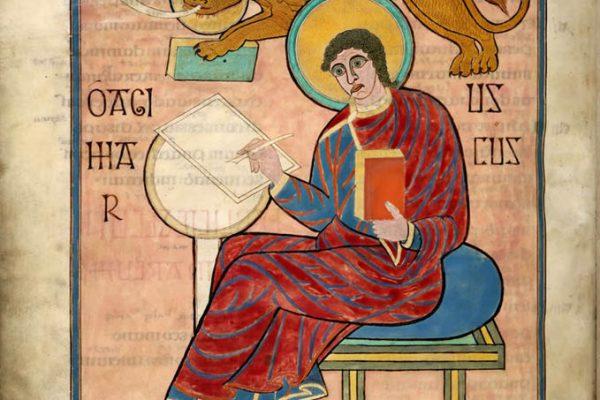Lindisfarne Folio 93 - Saint Marc