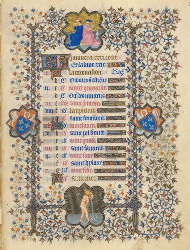 Belles heures du Duc de Berry - Folio 2r
