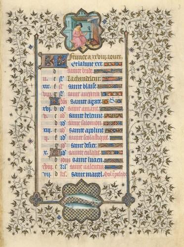 Belles heures du Duc de Berry - Folio 3r