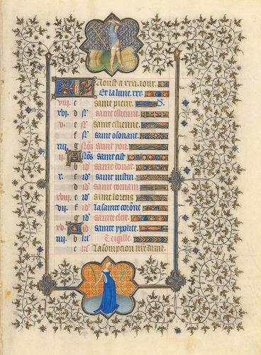 Belles heures du Duc de Berry - Folio 9r
