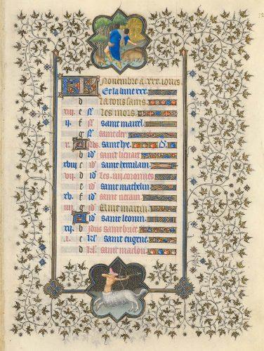 Belles heures du Duc de Berry - Folio12r