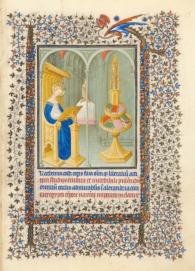 Belles heures du Duc de Berry - Sainte Catherine - Folio15r