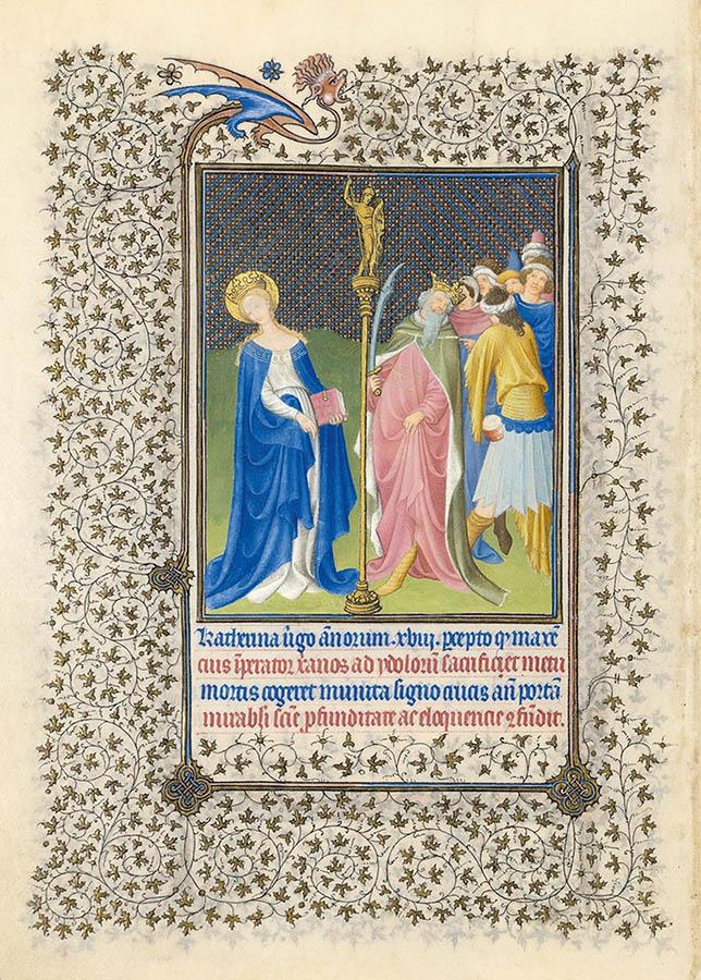 Belles heures du Duc de Berry - Sainte Catherine - Folio15v