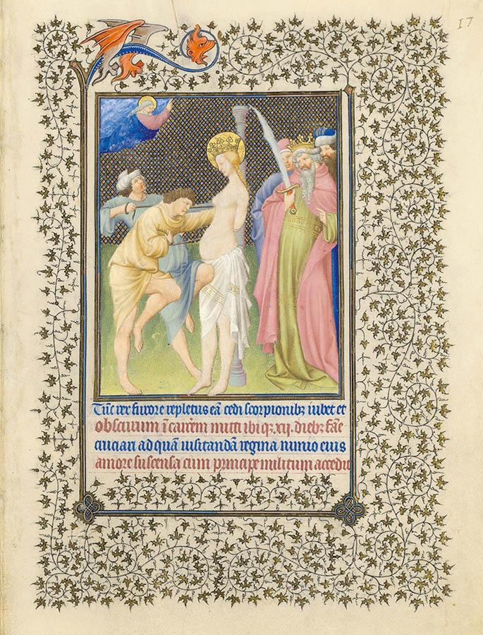 Belles heures du Duc de Berry - Sainte Catherine - Folio 17r