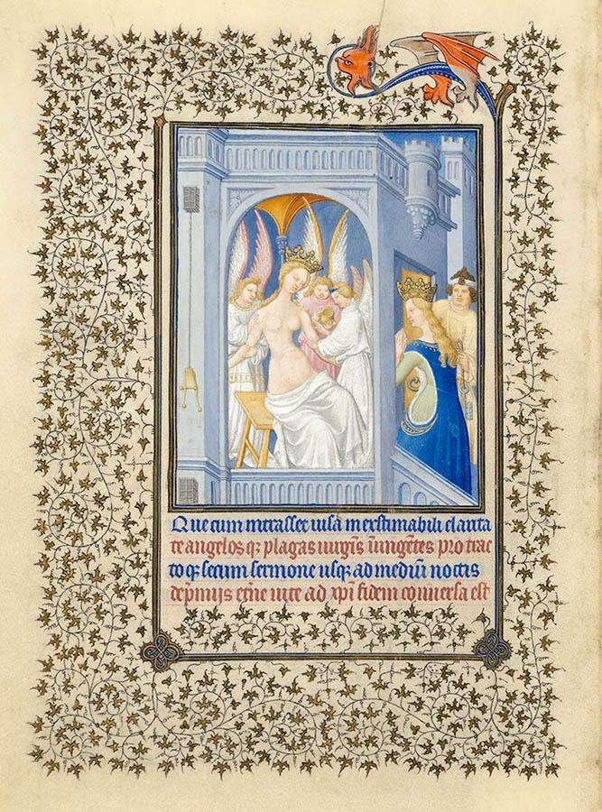 Belles heures du Duc de Berry - Sainte Catherine - Folio 17v