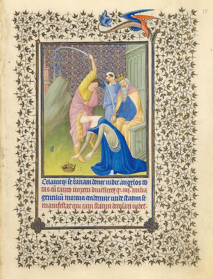 Belles heures du Duc de Berry - Sainte Catherine - Folio 18r