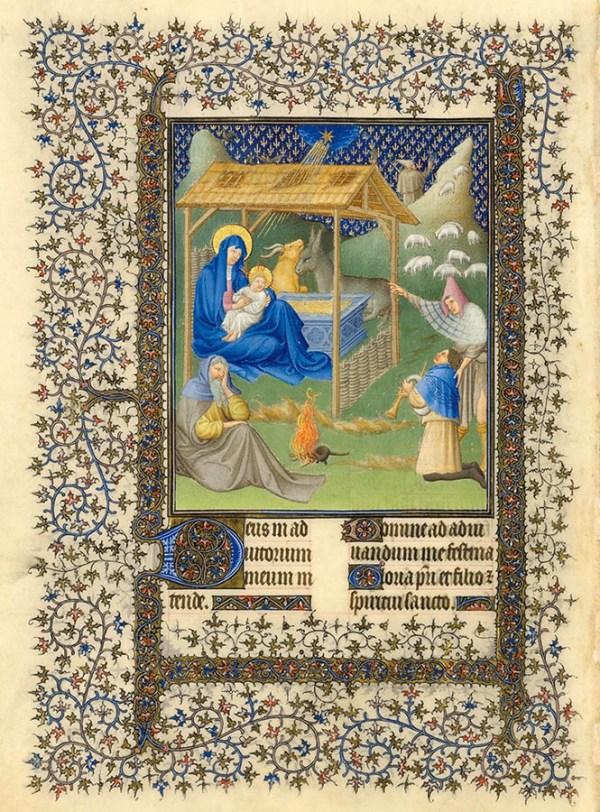 Belles heures du Duc de Berry - La Nativité.