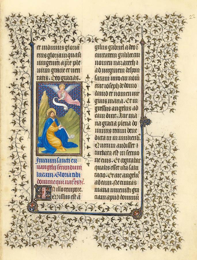 Belles heures du Duc de Berry - évangiles - Folio 22r