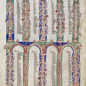 Bible d'Arnstein - Folio 152v - Tables des canons