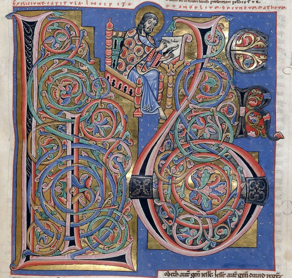 Bible d'Arnstein - Folio 155r (zoom) - Saint Matthieu