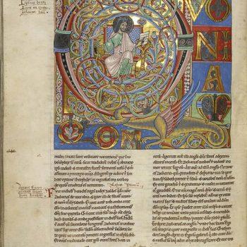 Bible d'Arnstein - Folio 173v - Saint Luc