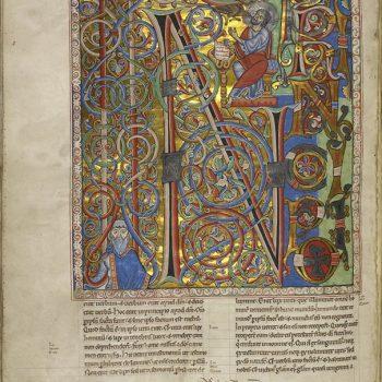 Bible d'Arnstein - Folio 185v - Saint Jean - In principio