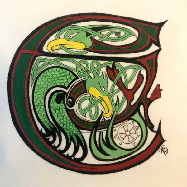 Initiale E celtique