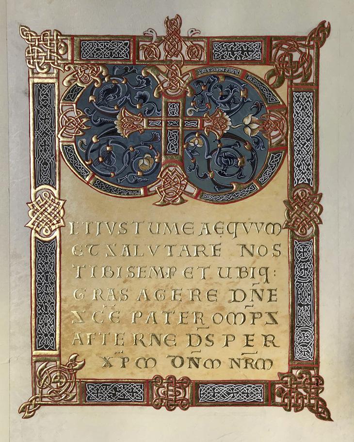Missel de Saint Denis. Folio 14 r