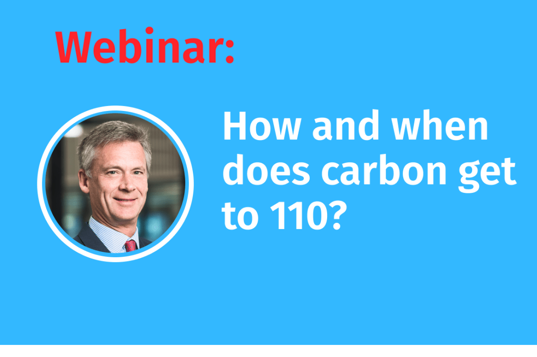LIVE Webinar: How and when does carbon get to 110?