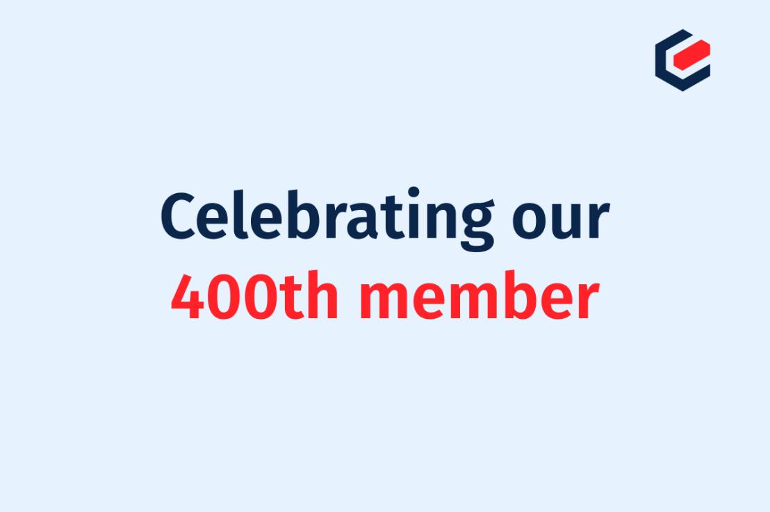 Celebrating our 400th member!