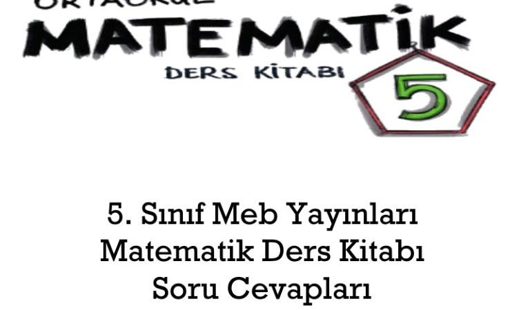 5. Sınıf Meb Yayınları Matematik Ders Kitabı Soru Cevapları Sayfa 70