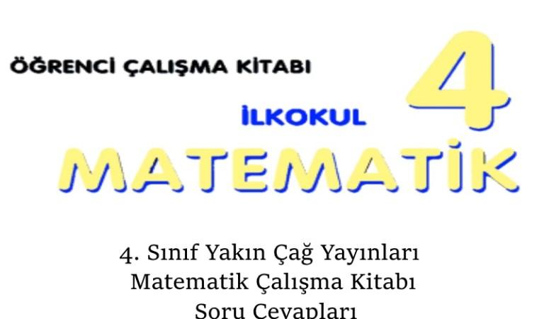 4. Sınıf Yakın Çağ Yayınları Matematik Çalışma Kitabı Soru Cevapları Sayfa 56