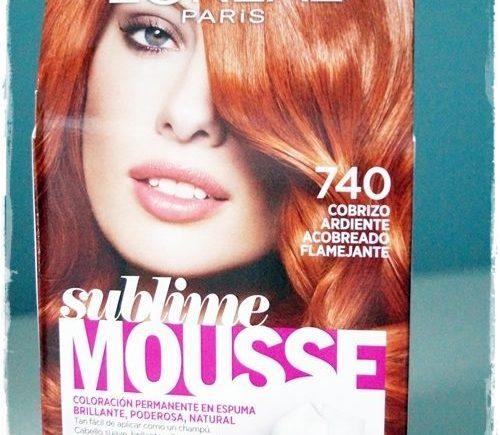 Sublime Mousse de L'Oréal Paris 740 Cobrizo Ardiente