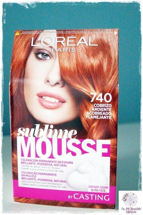 Sublime Mousse de L'Oréal Paris 740 Cobrizo Ardiente