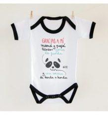 Body bebé Ojeras de panda Pedrita Parker