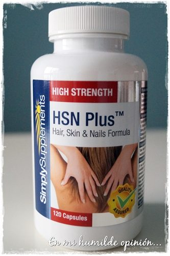 HSN Plus, Complemento nutricional para cabello y uñas de Simply Supplements