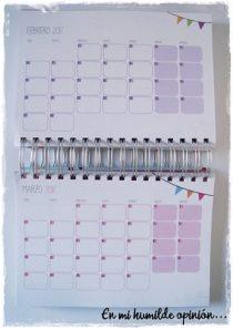 Planning mensual Agenda Qué Way