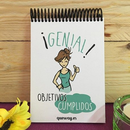 Libreta ¡Genial! Objetivos Cumplidos Qué Way