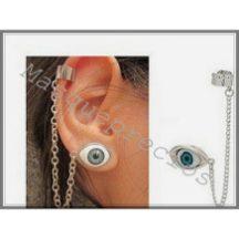 Pendiente de clip ojo con cadena