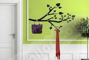 Vinilo decorativo perchero