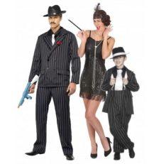 Disfraz de familia charleston gangster