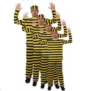 Disfraz del famoso grupo prisionero