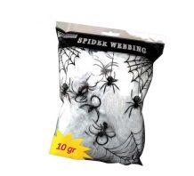 Telaraña de 10 gr. con araña para Halloween