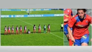 صورة لاعبة كرة قدم رفضت الوقوف دقيقة صمت حدادا على مارادونا