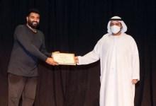 صورة وكالة أنباء الإمارات – ولي عهد الفجيرة يشهد اختتام فعاليات دورة تدريبية في فن المايم