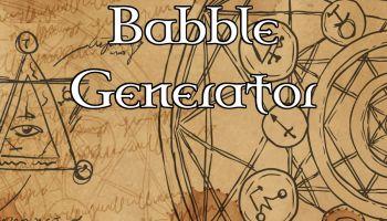 Random List – Sample of 20 Arcane Babble words or phrases