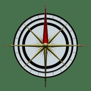 Symbol resembling a compass rose