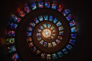 Stained Glass Spiral Circle Pattern  - msandersmusic / Pixabay