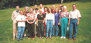 Die ersten Vereinsmitglieder mit Helen Palmer, 1997