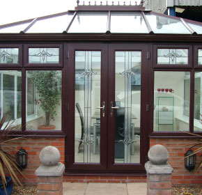 Attractive brick-base conservatory