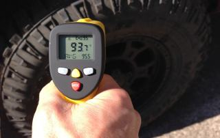 automotive diagnostics: measuring truck tire temperature with eT650D temperature gun