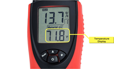 Moisture Meter LCD Display W Legends Temperature eH710T