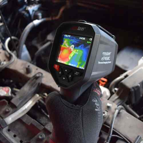 Using the thermal imaging camera eT450C for car diagnostics