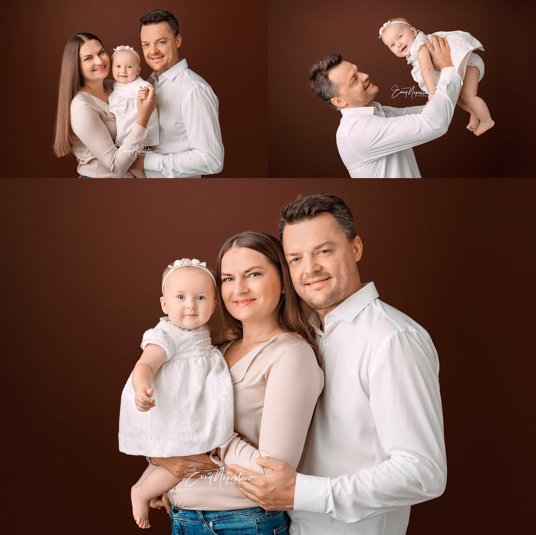 famiglia con bimba di 6 mesi
