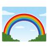 凄い……生まれて初めて虹の端っこを見た😳