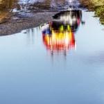 浸水した道路で信じられない光景を目の当たりにした…