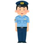 """「発電中?」…街中で""""バグったゲームキャラ""""のような警察官が目撃され話題にw"""