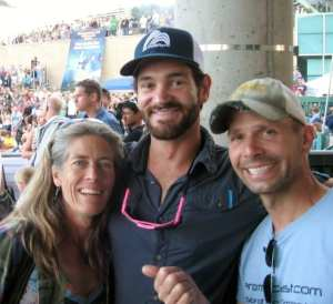 Me, Asa, and yes, that's Lynn Hill, at the Psicobloc comp in Park City.